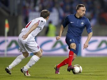 Franck Ribéry a terminé la rencontre à son poste de prédilection.